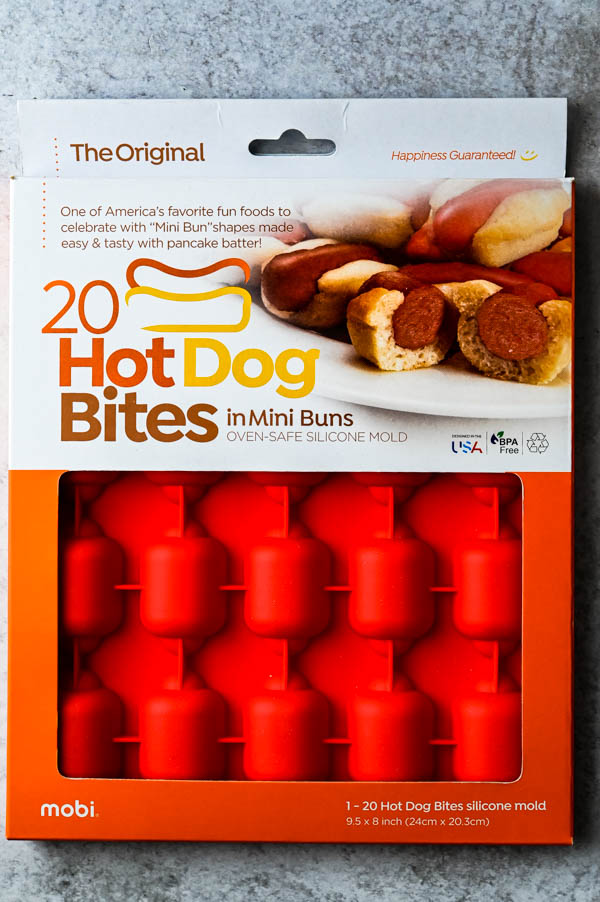 Silicone hot dog molds from Mobi Creations.