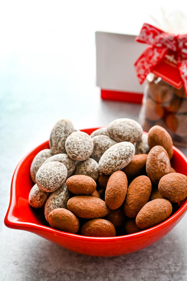 Chocolate covered almonds from Andre's Suisse represents current food trends at the Fancy Foods Show New York.