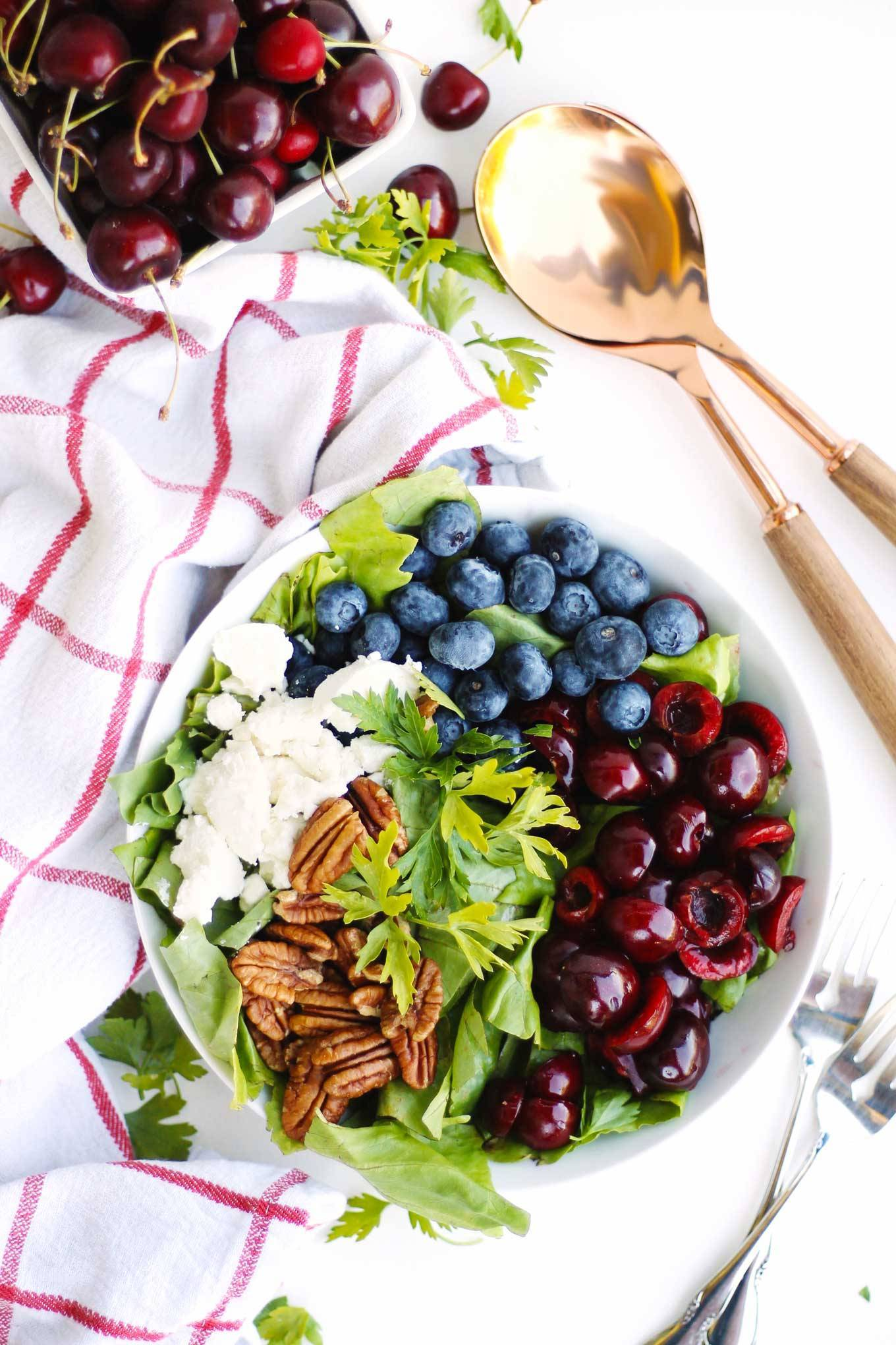 red white and blue salad.