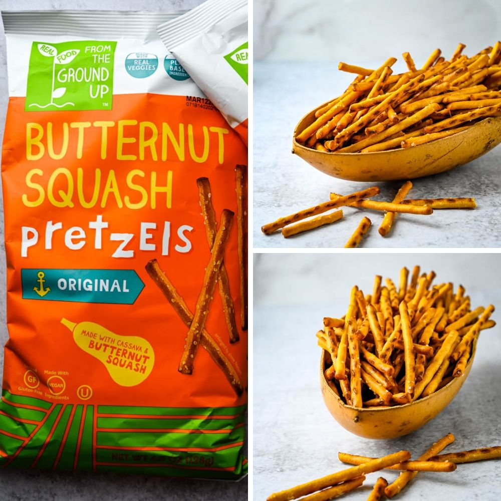 Stick pretzels made from butternut squash are another food product at the Fancy Foods Show New York.