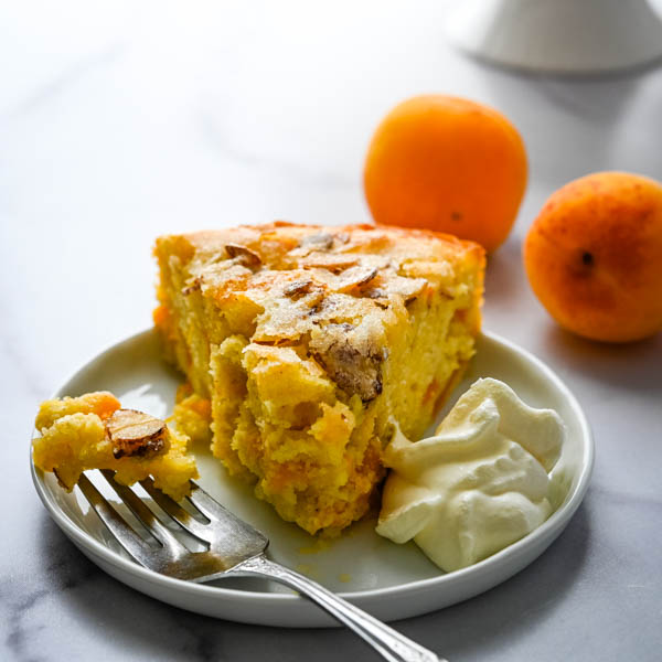 Apricot Cake with Sugared Almonds