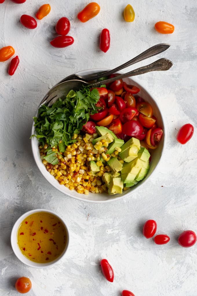 corn and tomato salad.