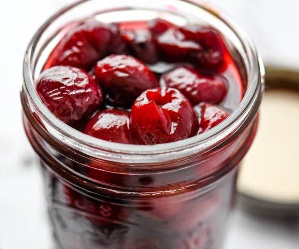 Vanilla Bean Pickled Cherries