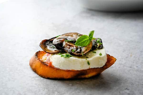Mushroom Truffle Bruschetta