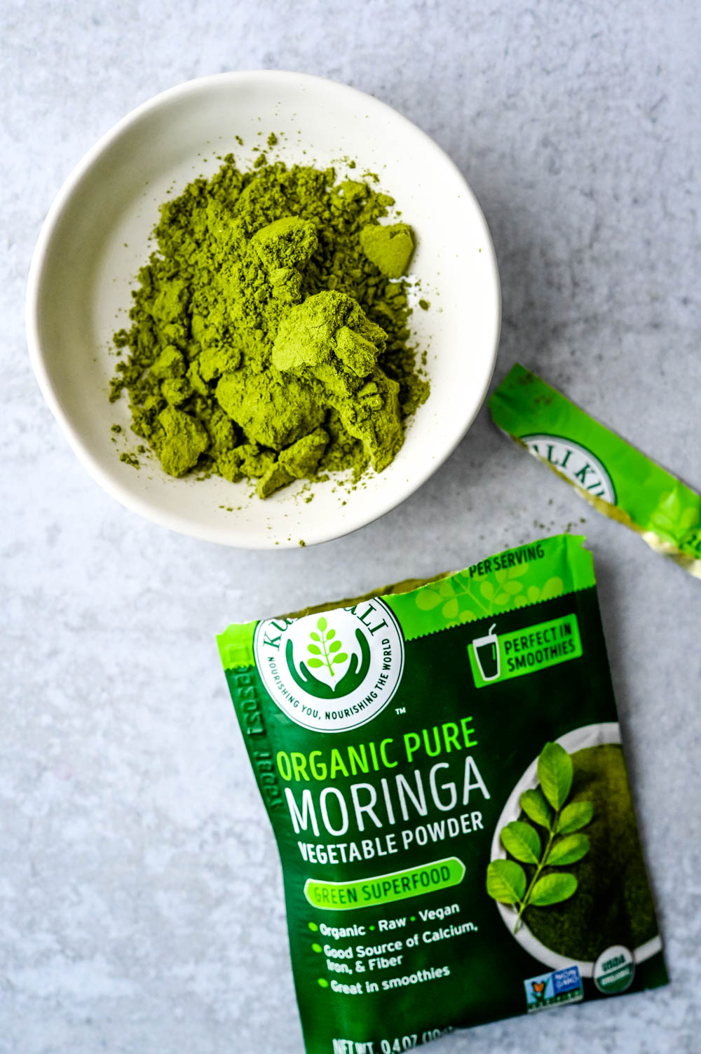 moringa powder by kuli kuli is a new food trend that's a great additive for smoothies.