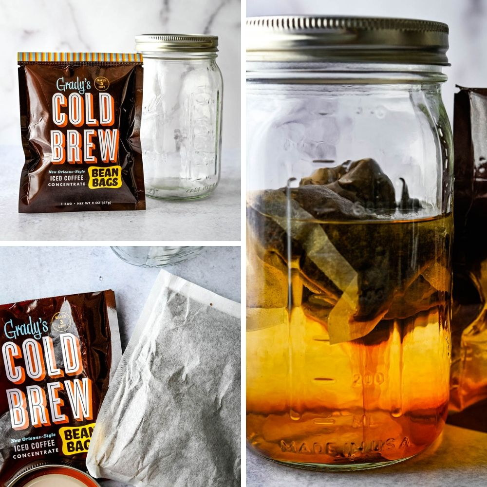 Grady's Cold Brew ice coffee is brewed in a mason jar overnight. Cold brew leads  new food trends.