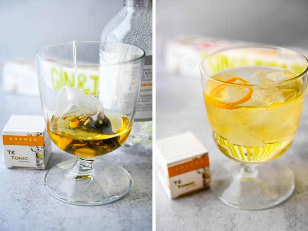 infusing gin with the orange sachet and making a craft cocktail, which are always popular at the summer fancy food show.
