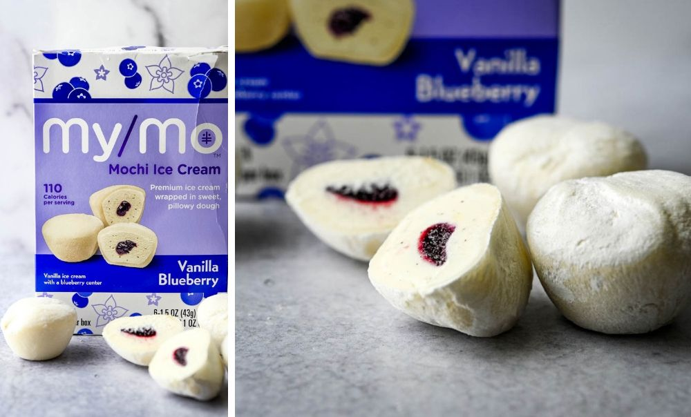 Blueberry Vanilla Mochi