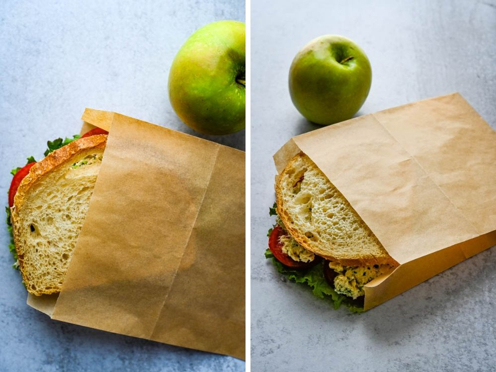 100% unbleached paper sandwich bags an environmentally friendly new food trend.