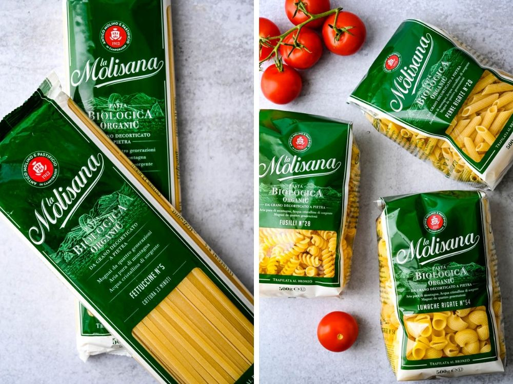 sampling of dry artisan pastas