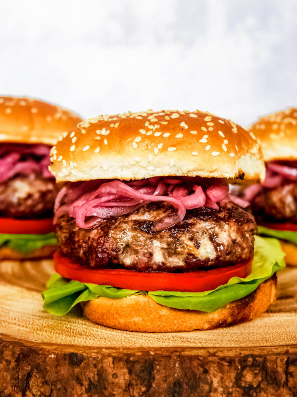 Blue Cheese Burger for your Labor Day traditions.
