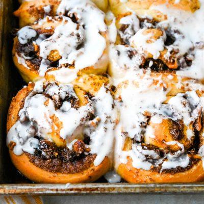 Cinnamon Walnut Raisin Sweet Roll Recipe