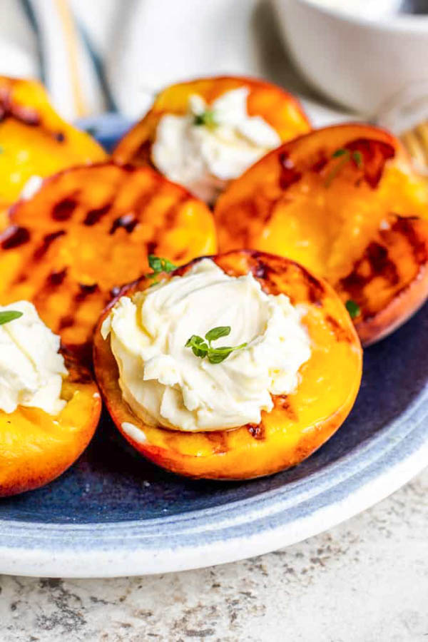 Grilled peaches for Labor Day