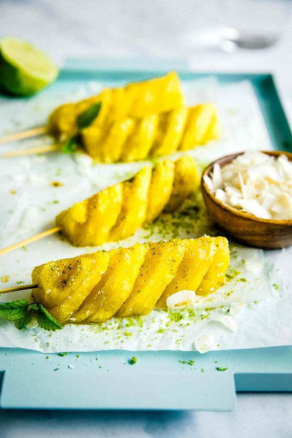 grilled pineapple slices.