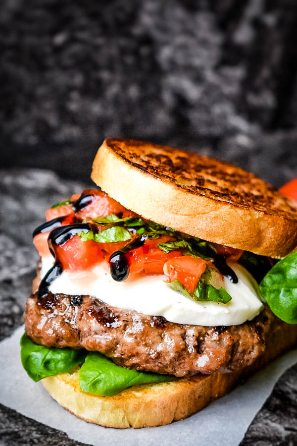 Bruschetta Burger for your Labor Day Traditions