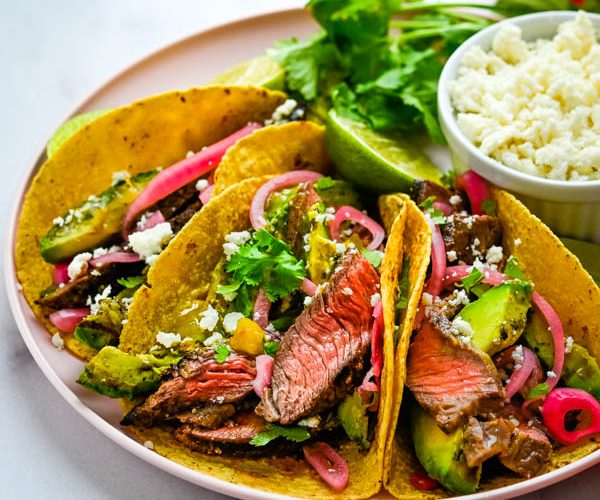 Tacos Carne Asada with Grass Fed Steak