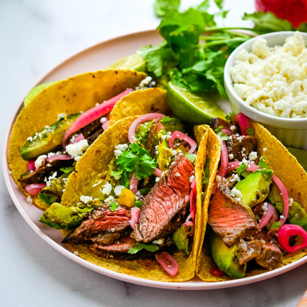 Tacos Carne Asada with Grass Fed Steak