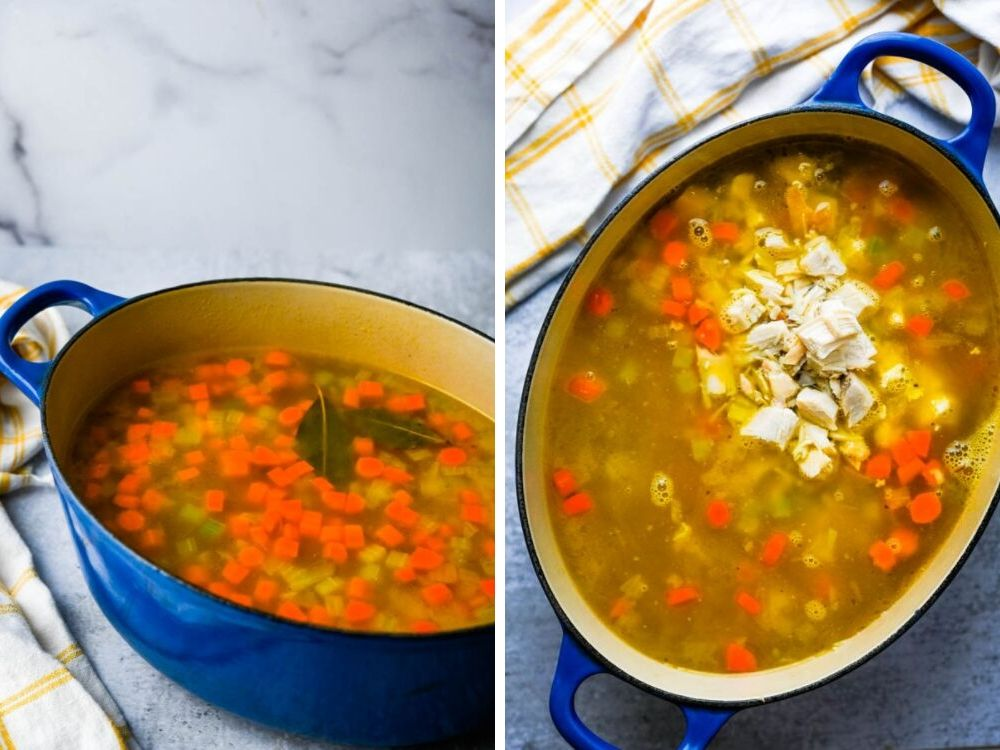how to make turkey soup in a crock pot.