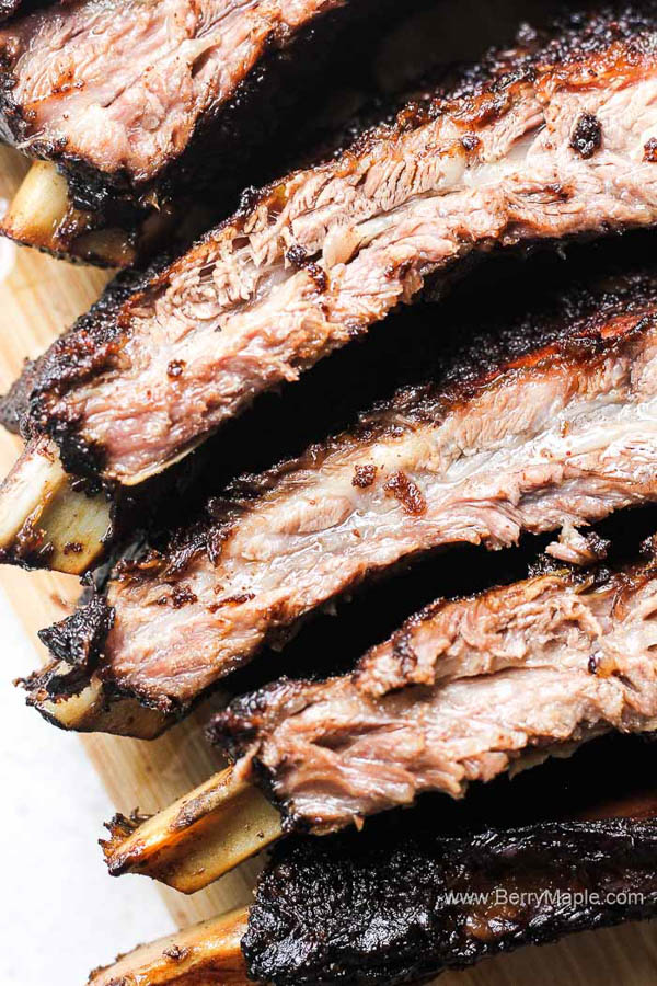 Perfectly Smoked Beef Ribs on the grill for your Labor Day traditions.