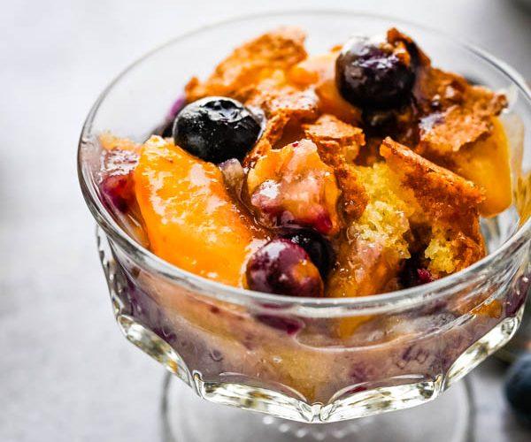 Ah-Mazing Peach Blueberry Cobbler