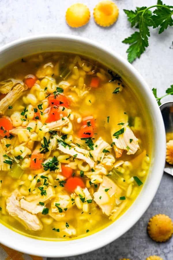 a bowl of alphabet soup