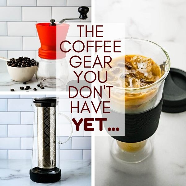 manual coffee grinders, cold brew coffee makers and double wall coffee mugs