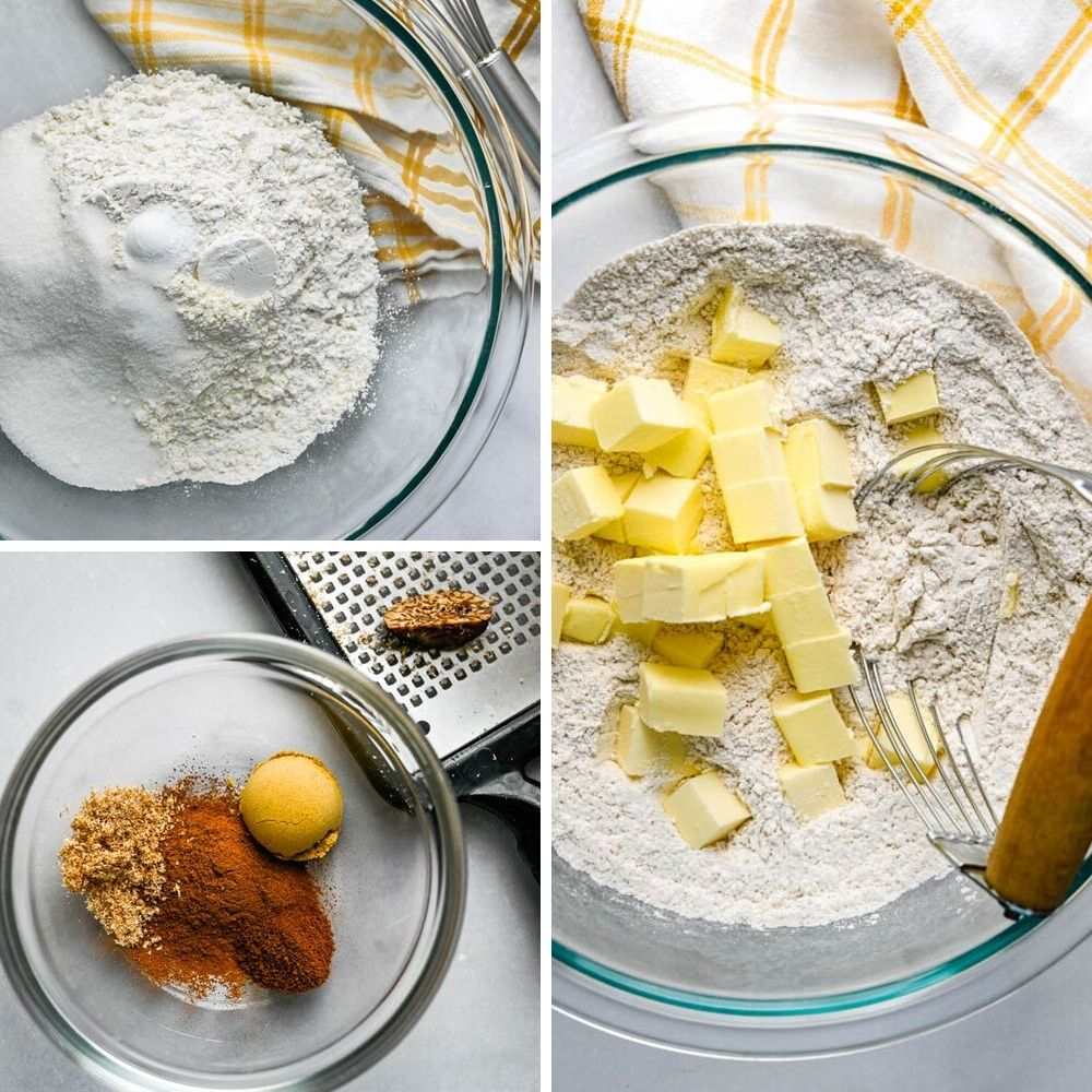 dry ingredients for pumpkin chocolate chip muffins