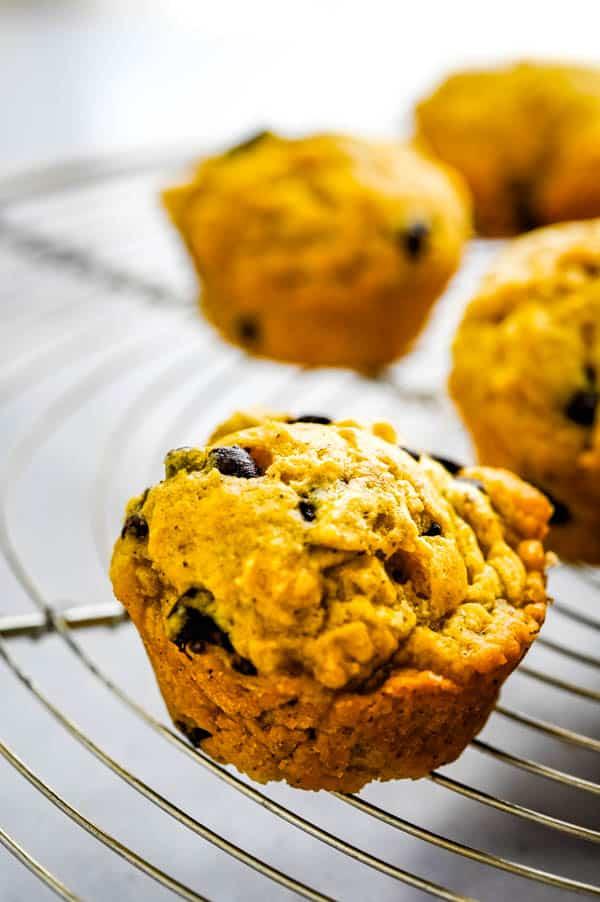 closeup of Halloween muffins.