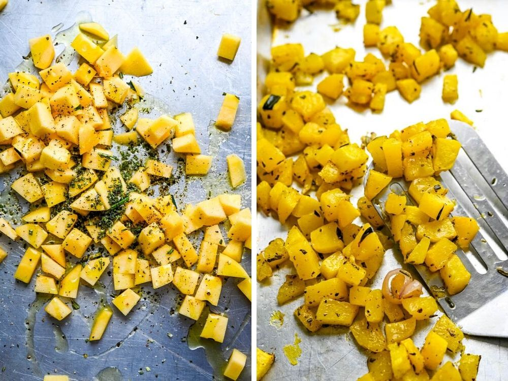 Love rice side dishes? Roasting acorn squash with fresh herbs for healthy rice recipe.