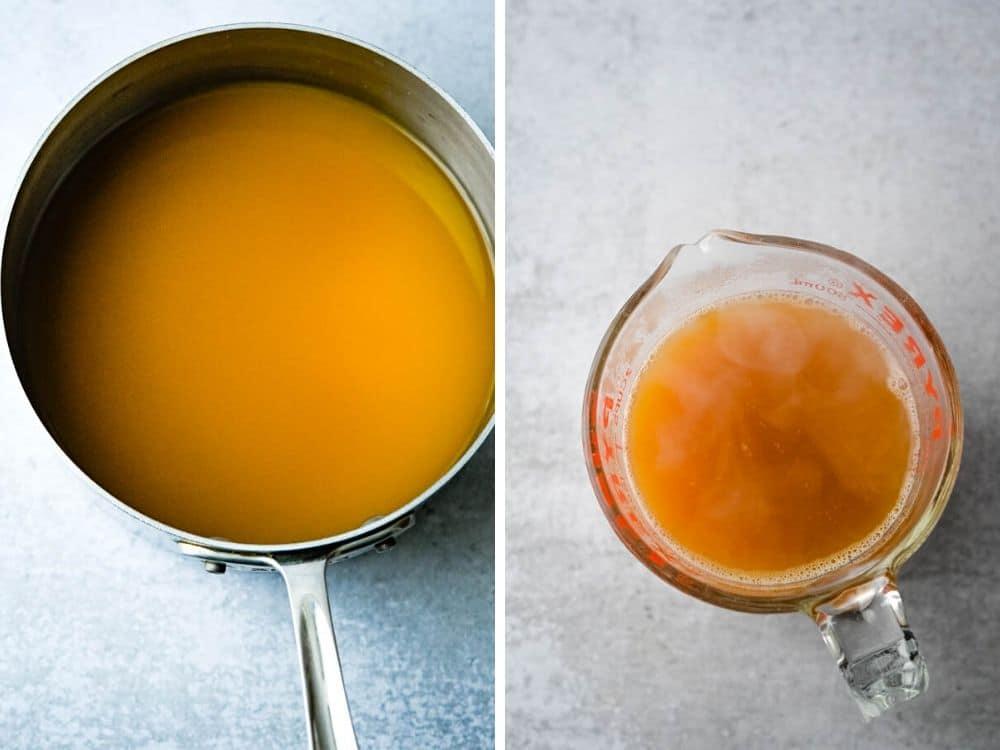 Reducing apple cider for cider gravy
