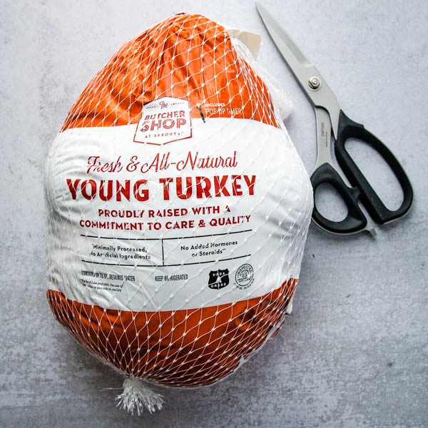 A Fresh Bird from Sprouts Farmers Market is perfect for my dry brine turkey with cider gravy.