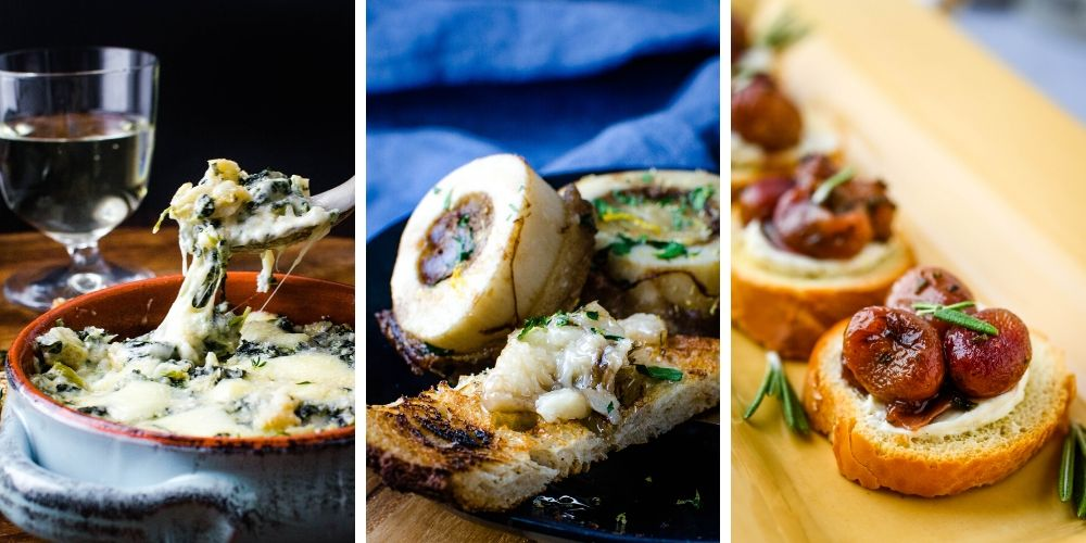 bruschetta, crostini party bites and gourmet appetizers.