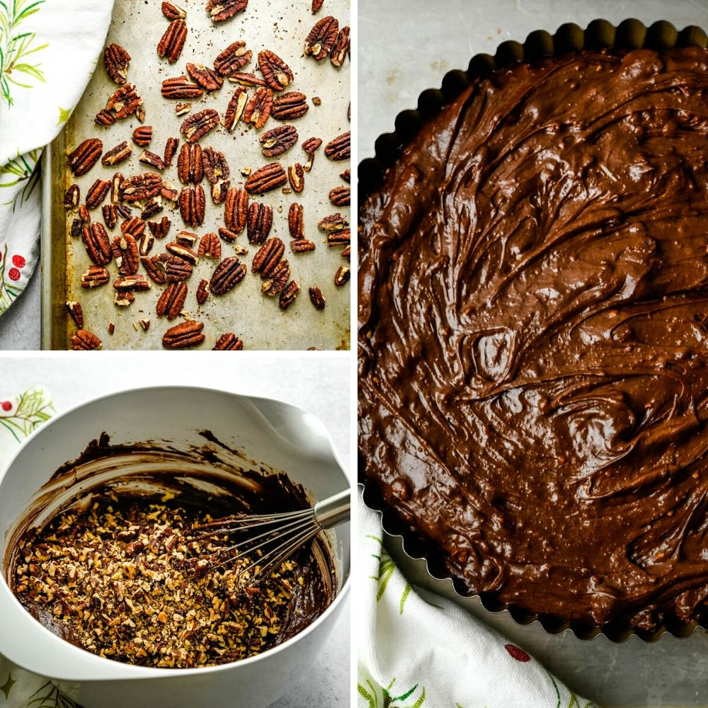 adding toasted pecans to the chocolate dessert recipes.