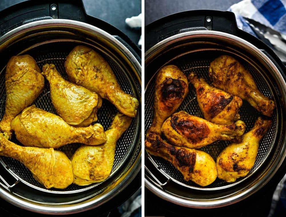 using air fryer converter to cook chicken.