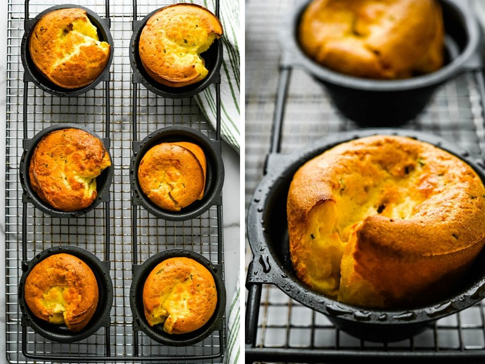 rolls in the popover pan after baking
