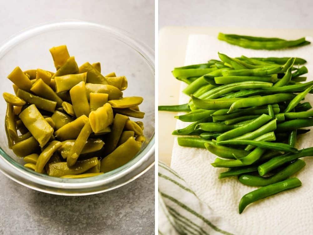 canned beans vs. fresh beans