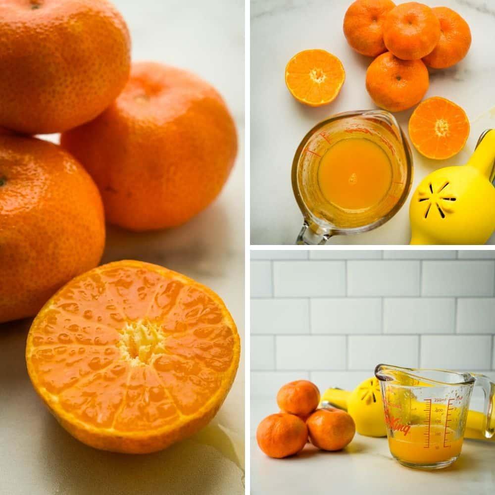 making tangerine juice.