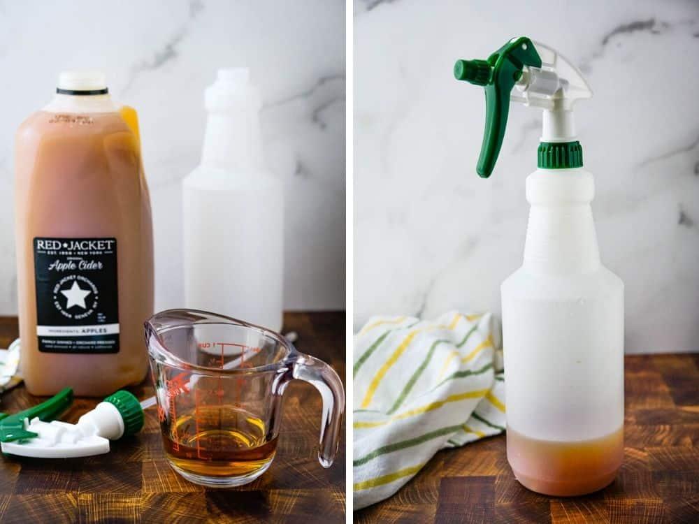 making bourbon cider spray.