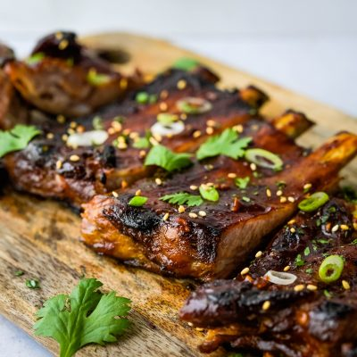 Spicy Sweet & Tangy Korean Ribs with Korean BBQ Sauce