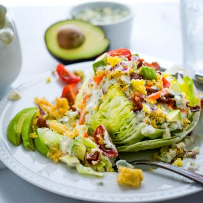 Steakhouse Wedge Salad – Classic Iceberg Lettuce Recipe