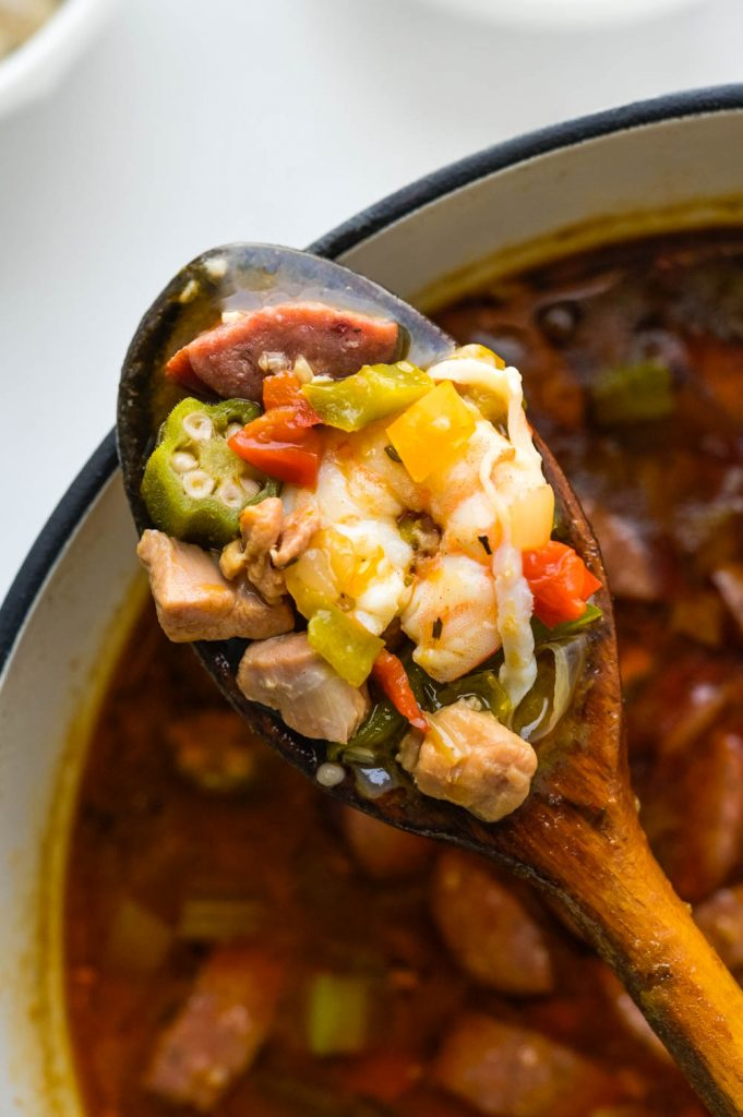 """Cooking the seafood until """"just"""" done. This is quintessential Cajun food!"""