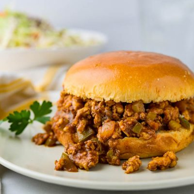 Old Fashioned Sloppy Joes with Ground Turkey Breast