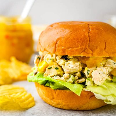 Tropical Mango Chutney Chicken Salad