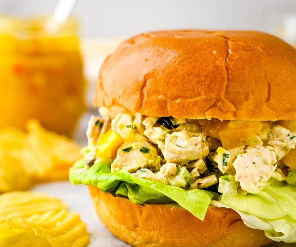 Tropical Mango Chutney Chicken Salad