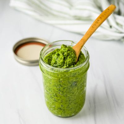 Spinach Basil Pesto with Almonds
