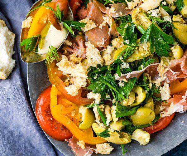 Summer Heirloom Tomato Salad