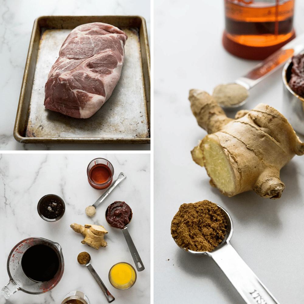making asian marinade for pork shoulder.