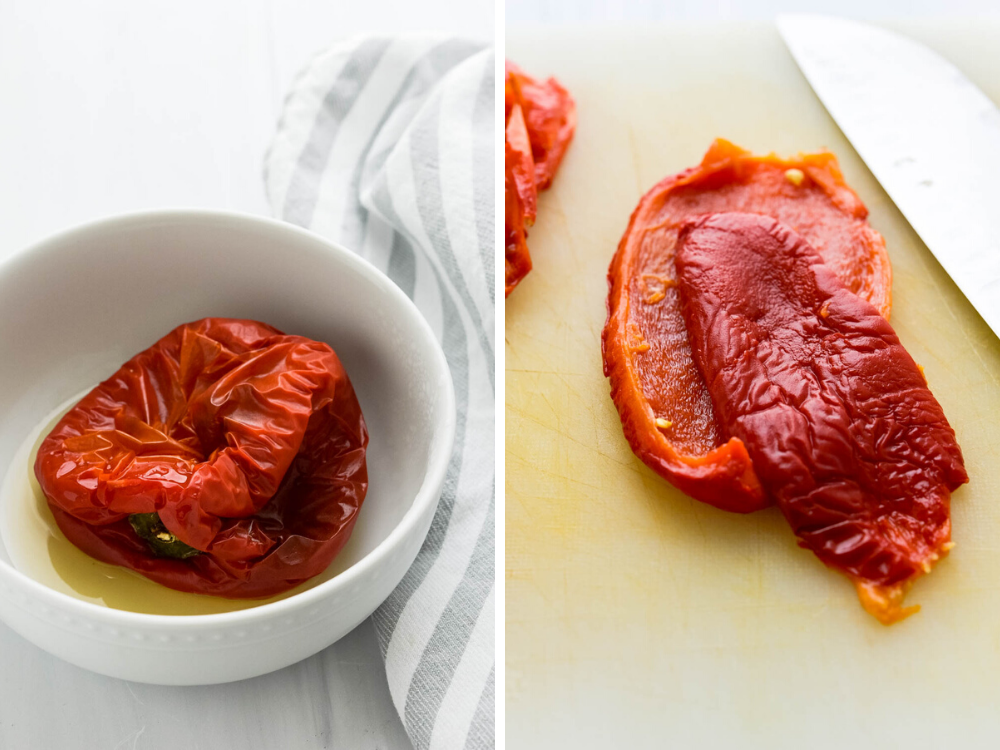 roasted red bell pepper is a good substitute if you can't find pimento.