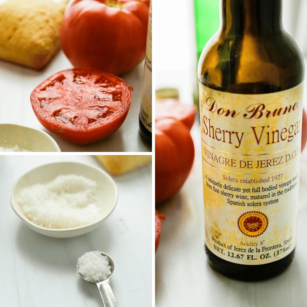 Red ripe tomatoes, sea salt and aged Spanish sherry vinegar.