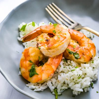 Easy Grilled Shrimp with Pineapple Bourbon Glaze